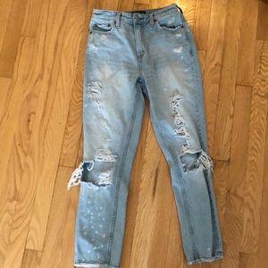 Abercrombie & Fitch Boyfriend Light Wash Jeans